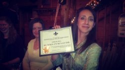 since UND didn't recognize my honor's status, Christine made me my own honors certificate from Gold Star University :)