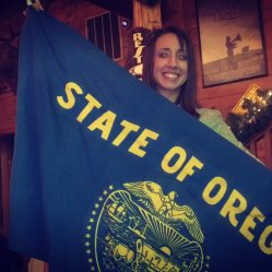 Josh got me the Oregon flag for graduation!