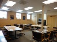 meeting room turned sewing room.