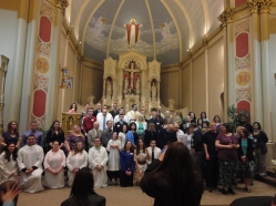 Look how cool I am in this picture. Newly baptized and confirmed Catholics and their sponsors!
