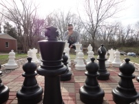 We seem to encounter chess sets on our trips.