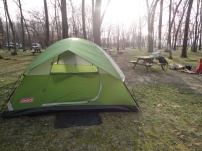 our campsite in Baraboo, WI.