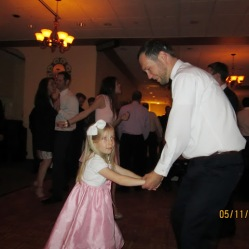 Dan and Lucy cutting a rug.