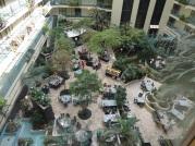 hotel, glass elevators