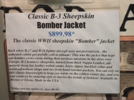 bomber jacket description.