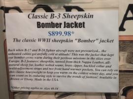 bomber jacket description.