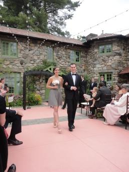 Josh escorting bridesmaid Kelsey.