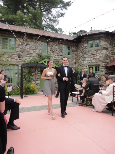 Josh escorting bridesmaid Kelsey.