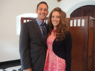Jeff and his girlfriend Rebecca - loved hanging out with these two! Jeff and Josh were in ROTC together