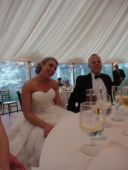 graced with the bride's presence!