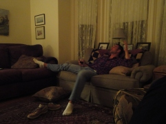 enjoying the comforts of the Ipswich Inn and good conversation