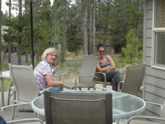Nana and Ma sitting out on the patio.