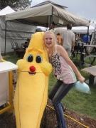 a larged stuffed banana.