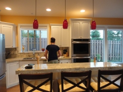 mom in her new kitch.