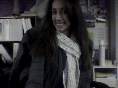 There she be - the scarf.