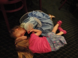 giggle fest on the floor after playing ring around the rosey