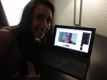 I got to skype with Josh for the first time since he's been gone!
