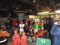 A bunch of beaver believers that couldn't believe the score was actually tied at half time. Then the kids beat up the duck in celebration.