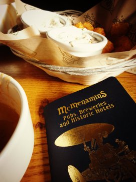 cajun tots and tomato basil soup with gnocchis at the Roseburg station McMenamin's