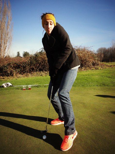 When I told Josh to stop taking pictures of me and that it made me too nervous to putt, this is the photo he took.