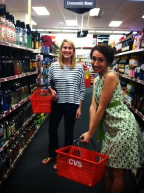 Shopping for drinks at the CVS