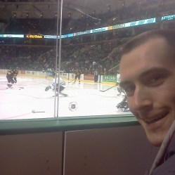 UND hockey game - in the Shaft's seats right on the ice!