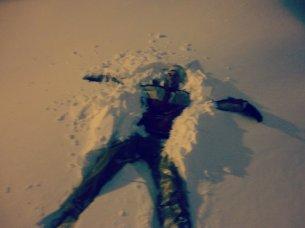 This particular drift of snow was appx 2-3 feet deep.