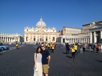 First view of St Peter's!