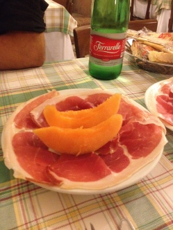 melon and prosciuto