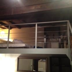 The low ceiling loft.