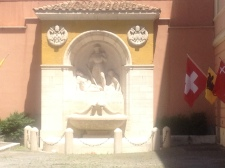 Fountain in the courtyard where they gather both for recreation and for formation (if I remember correctly...)