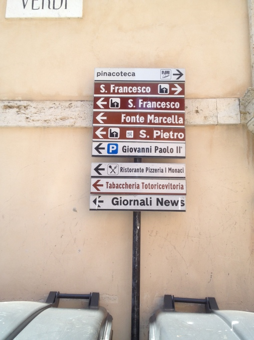 Italian directions are confusing,