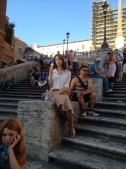 My tribute to Audrey Hepburn. Gelato on the Spanish Steps, just like in Roman Holiday.