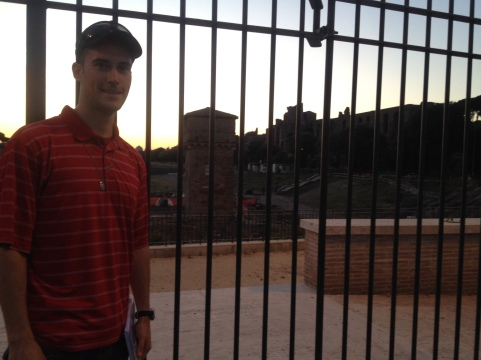 Outside the Circus Maximus.