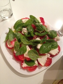 Our last night in Rome, Mike came over and cooked us dinner. It was such a blessed evening - prayed a decade in between in course. Clearly we loved the basil, as we were a little heavy handed with it... Arrivederci Roma!