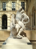 """Walking around the marble work, we guessed titles and what the statues represented. Josh said, """"I know the title to this one: Josh on a Sunday afternoon."""""""
