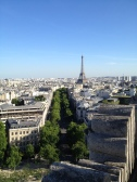 The next day we stayed in and relaxed and continued our laundry, but eventually ventured out to the Arc de Triomphe and the Eiffel.
