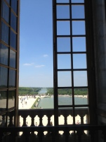 Gazing out the window from the Hall of Mirrors