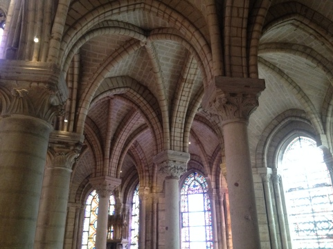 Headed about an hour outside of Paris to St Denis - the beginning of Gothic architecture.