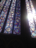 The light coming into San Chapelle was stunning.