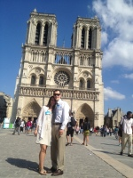 """Back over to Notre Dame for a picture. As dear Kait Patt would aptly title this photo """"NAMETAGS"""""""