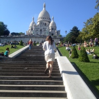 Sacre Coeur - Sacred Heart - a long climb to one of the most beautiful views of the city. At this church there has been perpetual adoration since 1885.