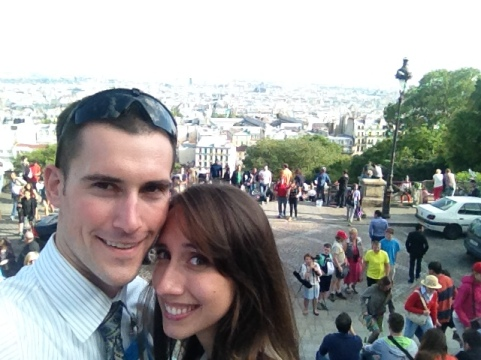 Just enjoyed some prayer time at Sacre Coeur and about to head back down the hill