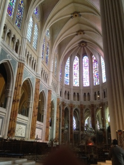 The restored area of Chartres. They were just beginning the entrance way and main body of the restoration that day.