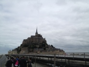 The next day we officially left Paris, and headed out to the Normandy region. We stopped to take in the breath-taking view of Mont San Michel (St Michael). Depending on the tide, this is either an island or accessible by land.