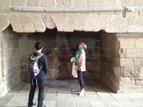the ginormous fireplaces to keep the place somewhat warm