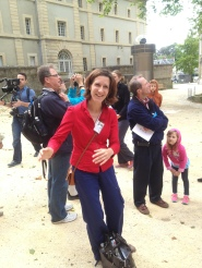 Our most adorable and skilled tour guide in Bayeux.