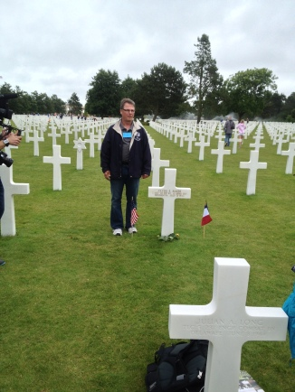 Next we went to the American D-day Cemetery in Normandy and visited Omaha Beach. One man in our group had a relative who died in D-Day, and we had the humbling opportunity to visit and pay respects at his grave.