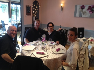 Dinner with Father and Beau and Patty :)