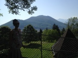 Lourdes is nestled along the Pyrenees mountains - breathtaking.